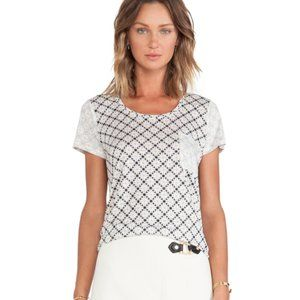 MARC By MARC JACOBS Shirt 100% Linen Printed Tee S